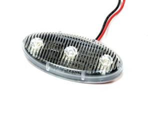 Bilde av LED Blitzlykt Oval Gul. 12V -
